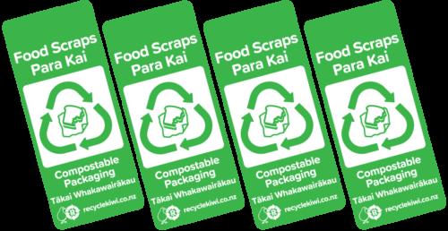 Food recycling bin sstickers